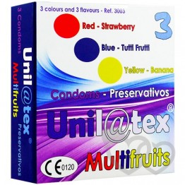 Unilatex Multifruits prezervatyvai 3 vnt. | SafeSex