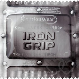 Caution Wear Iron Grip prezervatyvai | SafeSex