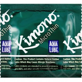 Kimono MicroThin with Aqua Lube prezervatyvai | SafeSex