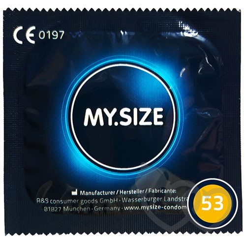 MY.SIZE 53mm prezervatyvai | SafeSex