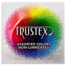 Trustex Assorted Colors Non-Lubricated prezervatyvai | SafeSex