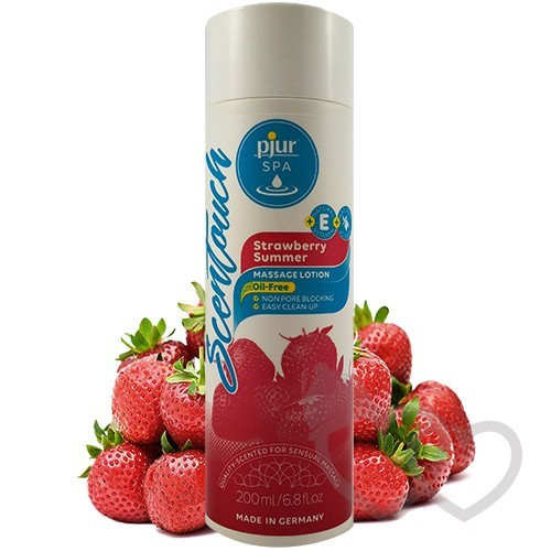 pjur SPA ScenTouch Strawberry losionas 200ml | SafeSex