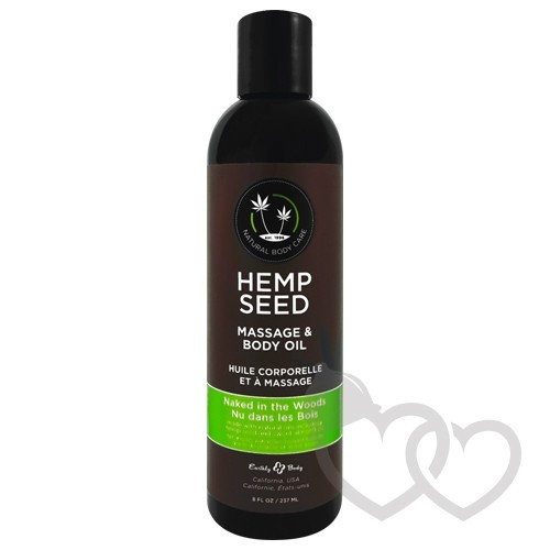 Earthly Body Hemp Seed Naked in the Woods masažo aliejus 237ml | SafeSex