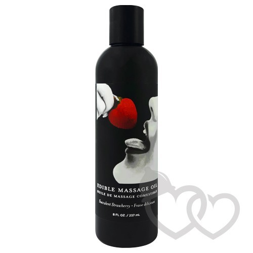 Earthly Body Strawberry Edible masažo aliejus 237ml | SafeSex