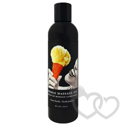 Earthly Body Vanilla Edible masažo aliejus 237ml | SafeSex