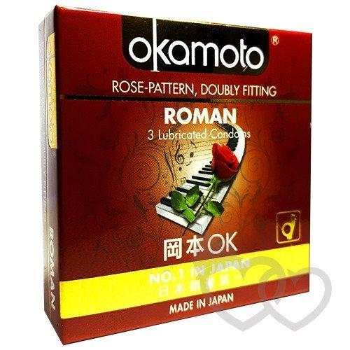 Okamoto Roman prezervatyvai 3 vnt. | SafeSex